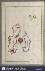 Aegean Sea Map Piri Reis Map Of Two Islands Santorini And Thera In The Aegean