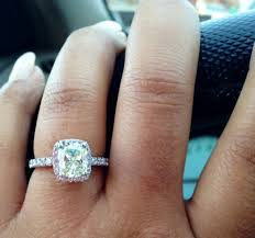 square engagement rings with band wedding band for square halo ring weddingbee