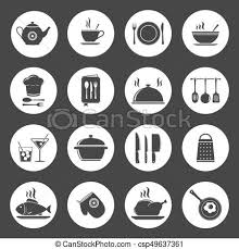 kitchen icon cooking kitchen icon set clip art vector search drawings and
