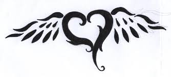 tribal heart with wings tattoo designs tribal free download