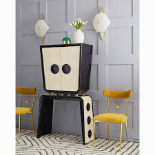 Gold Dining Room Chairs Rider Dining Chair Modern Furniture Jonathan Adler