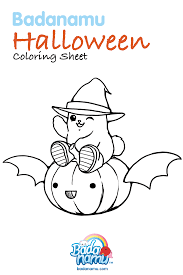 Halloween Activity Sheets And Printables Badanamu Halloween Coloring Sheet Get Your Crayons Ready And