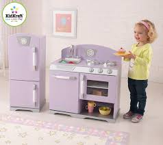 Retro Kitchen Accessories by Amazon Com Kidkraft Lavender Retro Kitchen Refrigerator Toys U0026 Games