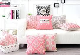 bild fã r wohnzimmer moderne sofakissen rosa geometrische moderne kissen fa 1 4 r