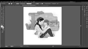 Imagen Blanco Y Negro En Illustrator | convertir vector en escala de grises e imagen con illustrator youtube