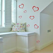 set of 12 heart wall stickers by leonora hammond set of 12 heart wall stickers
