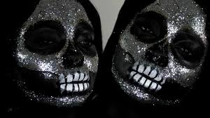 diamond glitter skull halloween makeup tutorial easy last