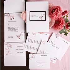 Cherry Blossom Wedding Invitations The Purple Mermaid Inflorescence Cherry Blossom Wedding