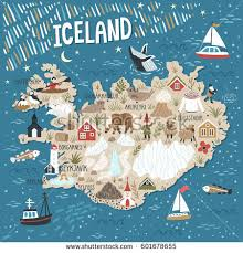 iceland map iceland map stock images royalty free images vectors