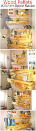 Upcycled Kitchen Ideas by Wood Pallets Kitchen Spice Racks Pallet Ideas Recycled
