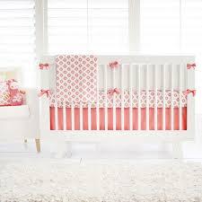 Solid Pink Crib Bedding Coral Crib Skirt Crib Skirt Coral Tailored Crib Skirt