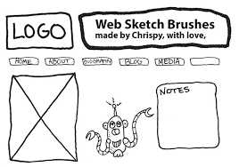 website design sketch brushes by chrispy free photoshop brushes