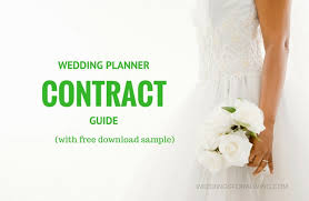 becoming a wedding planner free sle wedding planner contract