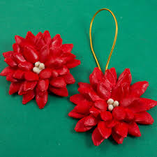 make pumpkin seed poinsettia brooch friday craft projects