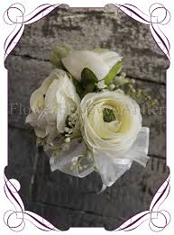 White Wrist Corsage Brooke Ladies Wrist Corsage Flowers For Ever After U2013 Artificial