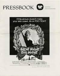 black christmas silent night evil night original pressbook for