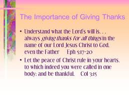 giving thanks as a way of pine cove fall s conference