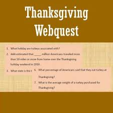 thanksgiving webquest thanksgiving facts activities and students
