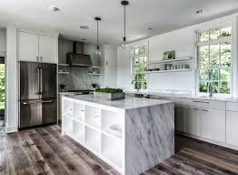 Types Of Kitchen Flooring by Interior Wooden Types Of Kitchen Flooring With White Marble