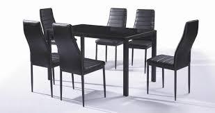 chaises alin a chaise de table ensemble et 6 chaises contemporain coloris noir