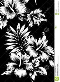 hawaiian patterns black and white tone stock image image 29578591