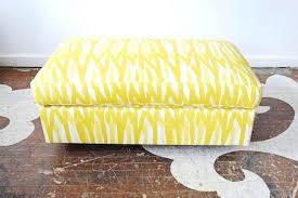 ottoman default name yellow storage ottoman bench yellow leather