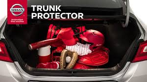 nissan altima 2016 trunk trunk protector genuine nissan accessories youtube