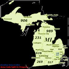 area code map of michigan find michigan area codes by map