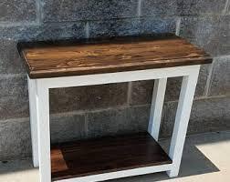 Farmhouse Side Table Wood Wine Crate Side Table End Table Farmhouse Furniture