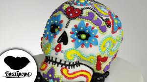 dia de los muertos sugar skulls sugar skull cake dia de los muertos diy how to