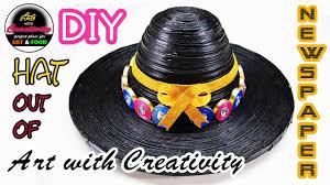 newspaper hat diy art with creativity 133 youtube
