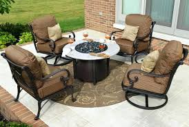 fire pit conversation sets patio set with fire pit serenity couch