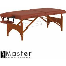 master massage equipment table master massage fairlane sport size portable massage table cinnamon