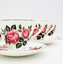 vintage china with pink roses vintage bone china tea set 4 cups saucers floral pink roses