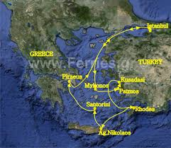 Greece Islands Map by 7 Day Cruise To Aegean Islands And Turkey Departure From Piraeus