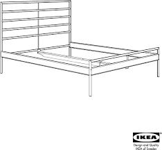 Heimdal Bed Frame Ikea Heimdal Footboard Assembly