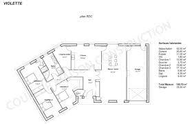 plan de maison en v plain pied 4 chambres plan maison plain pied en v