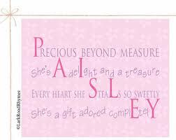 baby girl poems baby girl name poem etsy
