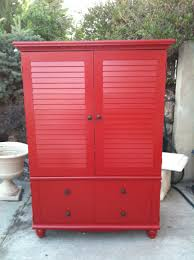 Black Armoire This Is What The Black Armoire Would Look Like Re Painted Red