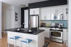 Attractive White Kitchen Cabinets With Black Countertops White - Black granite with white cabinets in bathroom