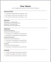 easy resume format absolutely free resume templates easy resume format easy resume