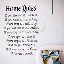 home rules quote wall stickers decor vinyl art decals sticker home rules quote wall stickers decor vinyl art decals sticker decoration wallpaper painting free shipping
