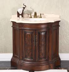 legion 38 inch vintage bathroom vanity wb 1838l in cherry brown finish