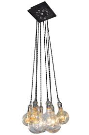 Chandelier With Edison Bulbs 8 Cluster Pendant Light Chandelier With Edison Style Bulbs