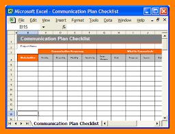 communication plan template excel choice image templates design