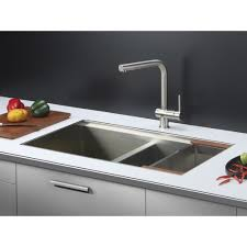 ruvati rvf1235bn cascada stainless steel one handle kitchen