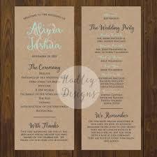how to do a wedding ceremony program wedding ceremony programs wedding ideas photos gallery