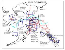 Alaska On A Map by Alaska Gold Maps Alaska Gold Panning Alaska Gold Prospecting