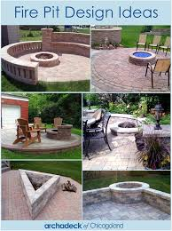 Firepit Design Pit Outdoor Living With Archadeck Of Chicagoland