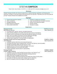 Proforma Of Resume For Job by Package Handler Resume Job Description Proforma Invoice Betekenis